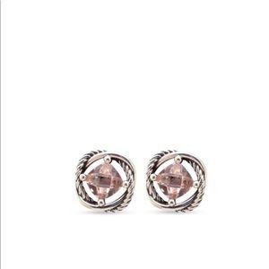 David Yurman Morganite Infinity Stud Earrings